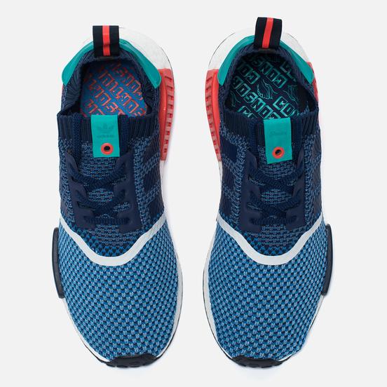 Мужские кроссовки adidas Consortium x Packer NMD R1 Primeknit Light Blue/Indigo