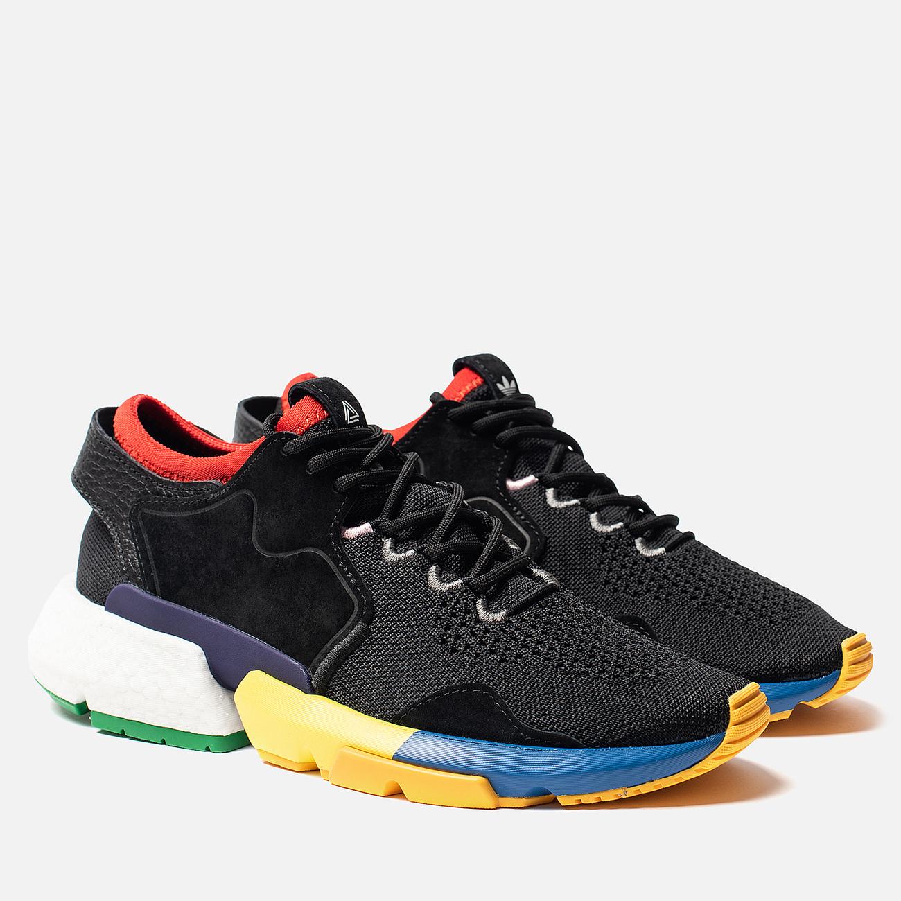 Кроссовки adidas Consortium x Social Status POD-S3.1 Core Black/Blue/Bright Yellow