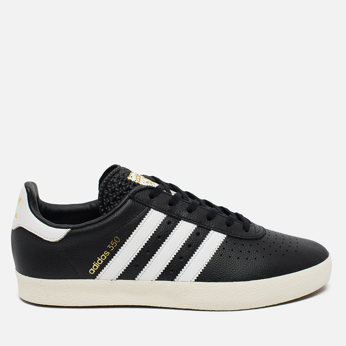 Кроссовки adidas Originals 350 Black/White/Gold Metallic