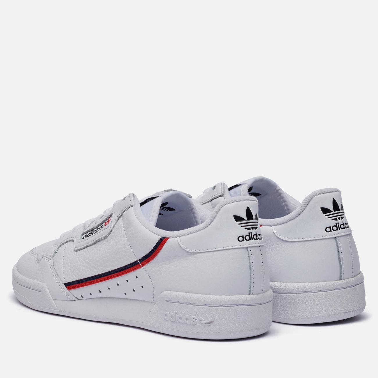 Кроссовки adidas Originals Continental 80 Cloud White/Scarlet/Collegiate Navy
