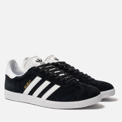 Кроссовки adidas Originals Gazelle Black/White/Gold Metallic