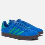 Кроссовки adidas Originals Gazelle Blue/Core Green/Gum фото- 2