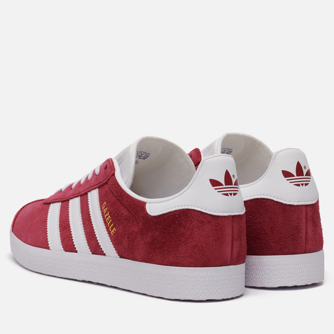 Кроссовки adidas Originals Gazelle Collegiate Burgundy/White/Gold Metallic