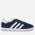 Кроссовки adidas Originals Gazelle Collegiate Navy/White/Gold Metallic фото- 0