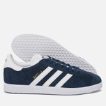 Кроссовки adidas Originals Gazelle Collegiate Navy/White/Gold Metallic фото- 1