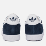 Кроссовки adidas Originals Gazelle Collegiate Navy/White/Gold Metallic фото- 3