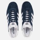 Кроссовки adidas Originals Gazelle Collegiate Navy/White/Gold Metallic фото- 4