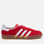 Кроссовки adidas Originals Gazelle Indoor Red/Core White/Gold фото- 0