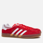 Кроссовки adidas Originals Gazelle Indoor Red/Core White/Gold фото- 1