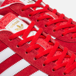 Кроссовки adidas Originals Gazelle Indoor Red/Core White/Gold фото- 4