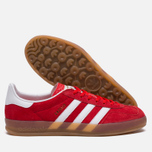 Кроссовки adidas Originals Gazelle Indoor Red/Core White/Gold фото- 2