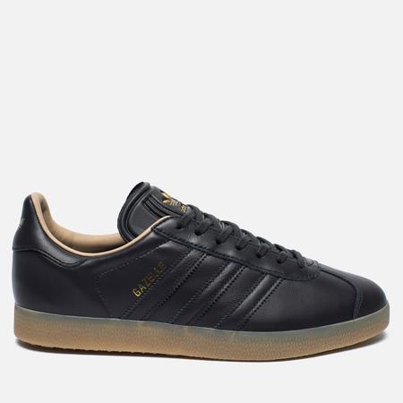 adidas Originals Gazelle Leather Premium Sneakers Utility Black/Gold Metallic