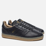 Кроссовки adidas Originals Gazelle Leather Premium Utility Black/Gold Metallic фото- 2