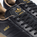 Кроссовки adidas Originals Gazelle Leather Premium Utility Black/Gold Metallic фото- 5