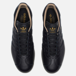 Кроссовки adidas Originals Gazelle Leather Premium Utility Black/Gold Metallic фото- 3