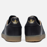 Кроссовки adidas Originals Gazelle Leather Premium Utility Black/Gold Metallic фото- 4