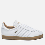 Кроссовки adidas Originals Gazelle Leather Premium White/Gold Metallic фото- 0