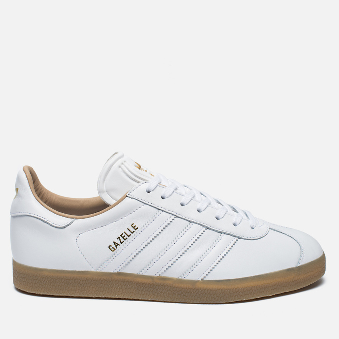 Кроссовки adidas Originals Gazelle Leather Premium White/Gold Metallic