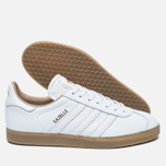 Кроссовки adidas Originals Gazelle Leather Premium White/Gold Metallic фото- 1