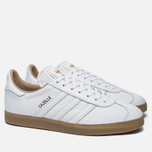 Кроссовки adidas Originals Gazelle Leather Premium White/Gold Metallic фото- 2