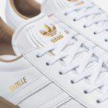 Кроссовки adidas Originals Gazelle Leather Premium White/Gold Metallic фото- 5