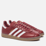 Кроссовки adidas Originals Gazelle Mystery Red/White/Gold Metallic фото- 2