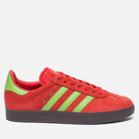 Кроссовки adidas Originals Gazelle Core Red/Semi Solar Green/Gum