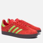 Кроссовки adidas Originals Gazelle Core Red/Semi Solar Green/Gum фото- 1