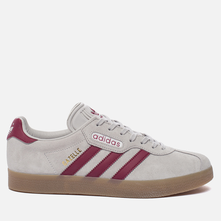 Кроссовки adidas Originals Gazelle Super Grey One/Mystery Rubin/Gold Metallic