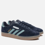 Кроссовки adidas Originals Gazelle Super Night Navy/Vapste/Gold Metallic фото- 2