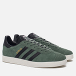 Кроссовки adidas Originals Gazelle Trace Green/Core Black/Gold Metallic фото- 2