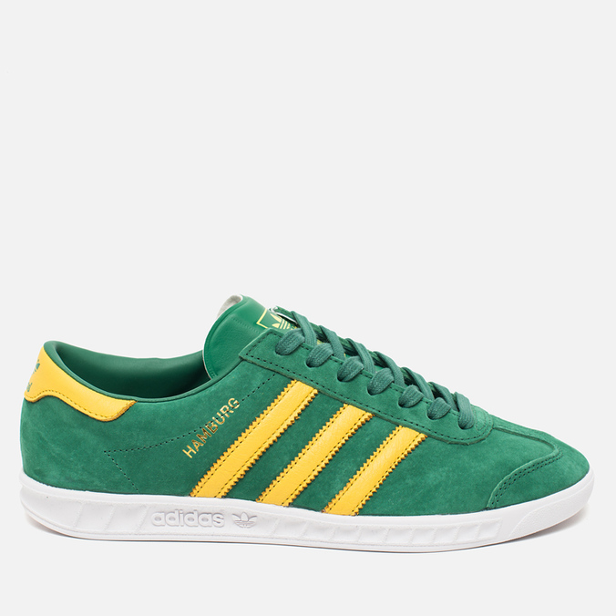 Кроссовки adidas Originals Hamburg Blanche Green/Spring Yellow