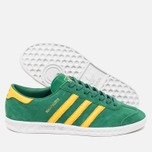 Кроссовки adidas Originals Hamburg Blanche Green/Spring Yellow фото- 2