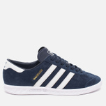 Кроссовки adidas Originals Hamburg Collegiate Navy/Running White/Gold фото- 0