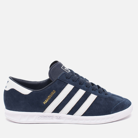 Кроссовки adidas Originals Hamburg Collegiate Navy/Running White/Gold