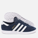 Кроссовки adidas Originals Hamburg Collegiate Navy/Running White/Gold фото- 2