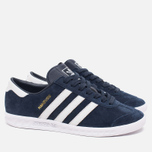 Кроссовки adidas Originals Hamburg Collegiate Navy/Running White/Gold фото- 1