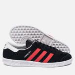 Кроссовки adidas Originals Hamburg Core Black/Red/White фото- 2