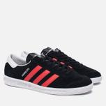 Кроссовки adidas Originals Hamburg Core Black/Red/White фото- 1