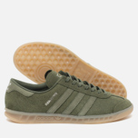 Кроссовки adidas Originals Hamburg Green/Metallic Silver фото- 1