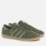 Кроссовки adidas Originals Hamburg Green/Metallic Silver фото- 2