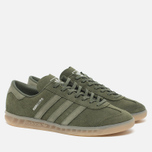 adidas Originals Hamburg Sneakers Green/Metallic Silver photo- 2