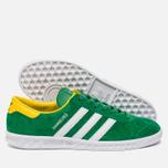 Кроссовки adidas Originals Hamburg Green/White/Yellow фото- 1