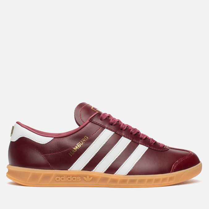 Кроссовки adidas Originals Hamburg Made In Germany Collegiate Burgundy/White/Gold Metallic