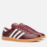 Кроссовки adidas Originals Hamburg Made In Germany Collegiate Burgundy/White/Gold Metallic фото- 1