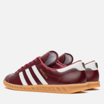 Кроссовки adidas Originals Hamburg Made In Germany Collegiate Burgundy/White/Gold Metallic фото- 2