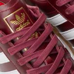 Кроссовки adidas Originals Hamburg Made In Germany Collegiate Burgundy/White/Gold Metallic фото- 6