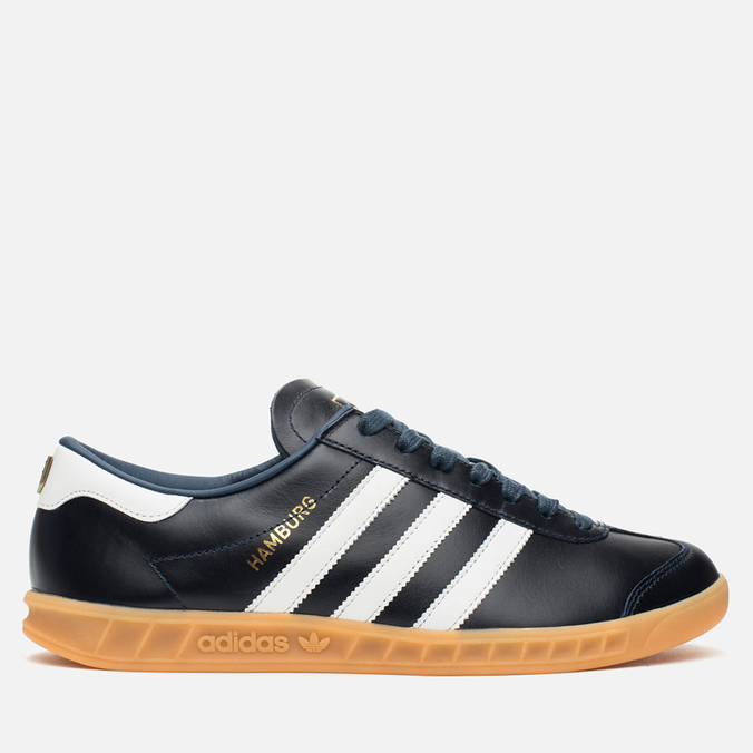 adidas Originals Hamburg Made In Germany Sneakers Collegiate Navy/White/Gold Metallic