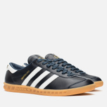 adidas Originals Hamburg Made In Germany Sneakers Collegiate Navy/White/Gold Metallic photo- 1
