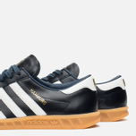 adidas Originals Hamburg Made In Germany Sneakers Collegiate Navy/White/Gold Metallic photo- 5